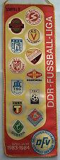 ORIG. banderín DDR-Liga temporada d 1983/84 // todos Club 's!!! Muy raras