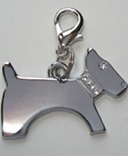 NEW Diva Dog Jewelry Gift Dog Pet CLEAR Encrusted Dog Collar Charm Lobster Clasp