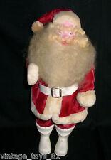 "VINTAGE 1960's CHRISTMAS RED SANTA VELVET HAROLD GALE 15"" OLD XMAS FIGURINE RARE"