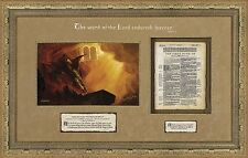 Arnold Friberg THE WORD OF THE LORD A/P framed, Authentic King James Bible page
