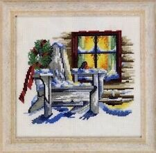 Winter Cottage Window Counted Cross Stitch Kit Permin