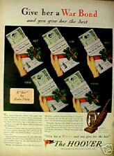 1944 WWII Hoover Vacuum Sweeper Household Appliance AD