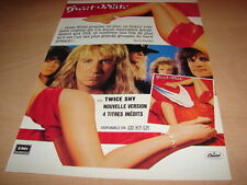 GREAT WHITE - TWICE SHY!!!!!!!!!!!!! PUBLICITE / ADVERT