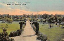 1912 Lake Erie On Interurban Between Dallas & Fort Worth TX post card