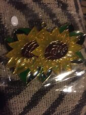 suncatcher stained glass * Double Sunflowers *New