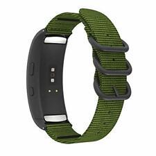 Moko reloj banda es compatible con Samsung Gear Fit 2/Gear 2 Pro, Verde Militar
