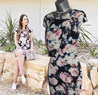 Phase Eight UK 10 Juniper Two Layer Floral Print Formal Day Shift Dress EU 38
