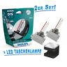 Philips D1S X-treme Vision gen2 +150% Xenon Brenner + Cuby LED Taschenlampe!!!