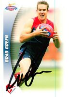 ✺Signed✺ 2006 MELBOURNE DEMONS AFL Card BRAD GREEN