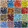 Wholesale Mix Size SS3-SS30 Crystal Glass Round Nail art Rhinestone Flatback DIY