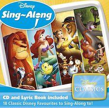 Disney Sing Along Classics Kids Children Songs Audio CD Lyrics Book