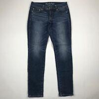 "American Eagle Outfitters Women Stretch Medium Wash Skinny Jeans sz 6R (30"" W)"