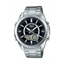 Casio AMW810D-1A Men's Stainless Steel, Analog/Digital, 50M WR Watch, World Time