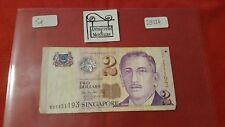 SINGAPUR - BILLETE DE 2 TWO DÓLARES - REF29524