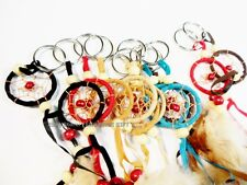 12x Wholesale LOT Handmade Hanging Natural Feather Dream Catcher Key Chain #A