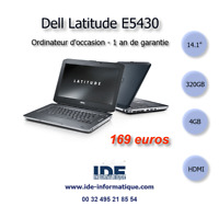 ORDINATEUR PORTABLE DELL LATITUDE E5430 - 1900mhz - 320 GB - 4GB - WEBCAM