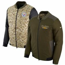 PITTSBURGH STEELERS 2017 NFL Salute to Service Nike Reversible Bomber Jacket M