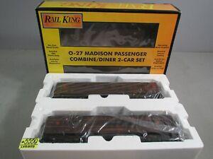 Rail King O Scale PENNSYLVANIA  Madison Combine/Diner 2 Car Set 30-6204 C-8