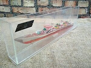 Ship Nautical Décor Collectibles USSR 50s' Vintage Hand Made Model