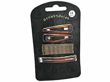 Tort Brown Hair Clip Slide Grip Set Hair Accessories UK