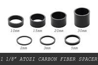 """1 1/8"""" 28.6 Carbon Fiber Bike Bicycle Headset Stem Spacer 2/3/5/10/15/20/30 mm V"""
