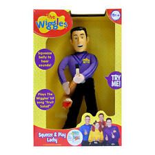 "NEW NIB The Wiggles Squeeze & Play Singing Talking Sounds 14"" Lachy Plush Doll"