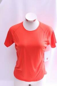 New Bontrager Women's Kalia Tech Tee Cycling Bike Medium Orange Short Sleeve Top