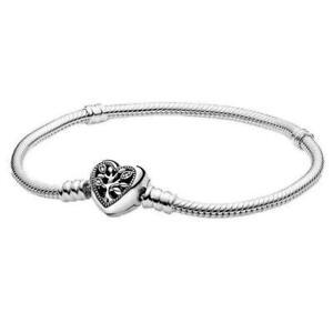 Damen PANDORA Momente Herz Verschluss Snake Kette silber Mint Mode Armband Gift
