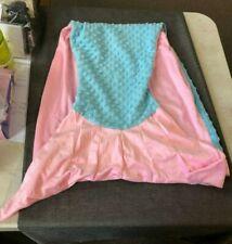 """40"""" Mermaid Tail Blanket Sack Pink/Blue"""