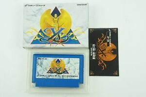 Ys 1 NES VICTOR Nintendo Famicom Box From Japan