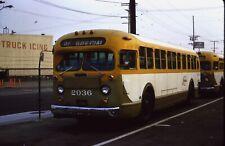 OrigSlide-SCRTD #2036 GMC TDH4801 BUS in Div. 1 - Los Angeles CA on 12-28-73