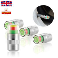 4 x Car Wheel Pressure Caps Tire Air Dust Monitor Sensor Valve Tyre 30-32-36 PSI