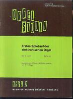 """Willi Nagel :"""" Erstes Spiel auf der e-Orgel """" Heft 2 : leicht"""