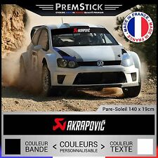 Stickers Pare Soleil Akrapovic Rallye ; Auto Autocollant Voiture Racing