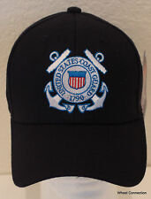 Coast Guard Hat Eagle Crest Military with Embroidery on Navy Blue Baseball Cap