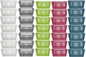 PLASTIC HANDY BASKET STORAGE TIDY ORGANIZER PHARMACY SCHOOL HOME OFFICE