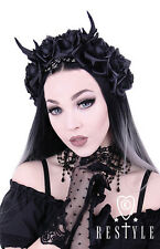 Restyle Antlers Roses Beads Girls Cute Emo Goth Punk Alternative Headband