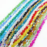 Half AB 3mm4mm6mm Bicone crystal beads charm glass loose spacer beads