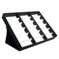 LARGE Storage Display Case Box for Eyeglass Sunglass Glasses 18 Compartments A