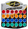Sunlite 24 Small One Inch Bolt on Bicycle Reflectors - Red,Yellow,Blue and Green