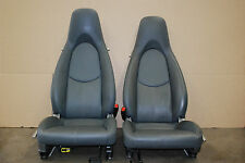 Factory Porsche 987 Cayman Seats 2 way power Grey Leather OEM 911 997 Gray
