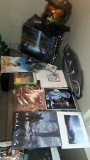 Lot of Signed & Unsigned Halo 3 & Halo Items, Helmet, Signed Sketch, Launch+++++
