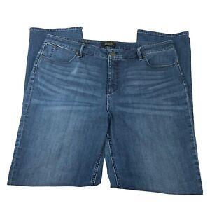 Talbots Womens Flawless Five Pocket Design Straight Blue Denim Jeans Size 18L