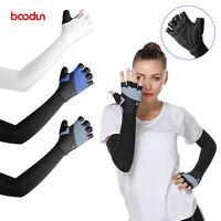 Outdoor Ice Silk Long Sleeves UV Protection Cool Gloves Arm Cuff Sunscreen Golf