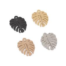 20pcs/lot Polished Stainless Steel Decoration Pendant Connectors DIY Leaf Charms
