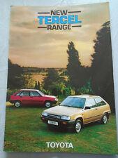 Toyota Tercel range brochure Oct 1982