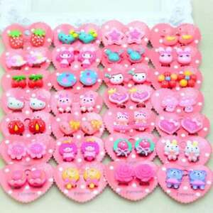 1 Pair Fake Non-Piercing Cartoon Clip-On Earrings for Kids Childrens Teen Girls