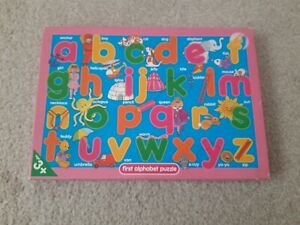 Marks and Spencer's children's colourful alphabet literacy jigsaw puzzle 26...