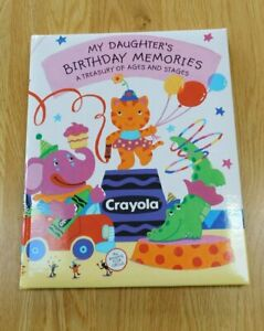 Vintage Hallmark 1997 CRAYOLA Crayon~My Daughter's Birthday Memory Book~NEW