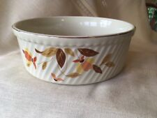"""Vintage Hall's Autumn Leaf Jewel Tea 8"""" Ribbed Casserole Dish # 505"""